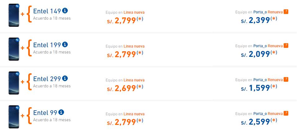 db093f424ef Entel responde a la guerra de precios del Galaxy S8... Pero deja ...